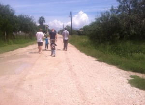 I took this one of the team walking down one of the roads in the village. Unfortunately we have to be very careful with the pics we post so as to not expose which village it is for our own safety and that of the villagers due to c*rtel presence in the surrounding area.