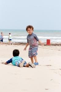 Titus at beach