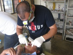 Me working in a dental clinic last year.