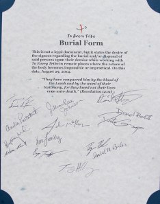 2014 burial form