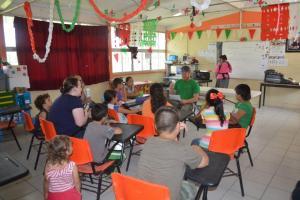 Escuelita in EZ. Bryan is giving a good gospel presentation.