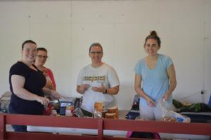 The ladies of the team getting lunches ready for us as we prepare to go to some surrounding villages.