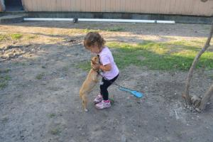 Nora and dog
