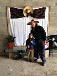 One of the families had a big birthday party in their barn last weekend - this is Titus and me posing in the photo booth
