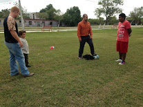 Soccer provides a lot of relationship and gospel opportunities. I was sharing my testimony here.